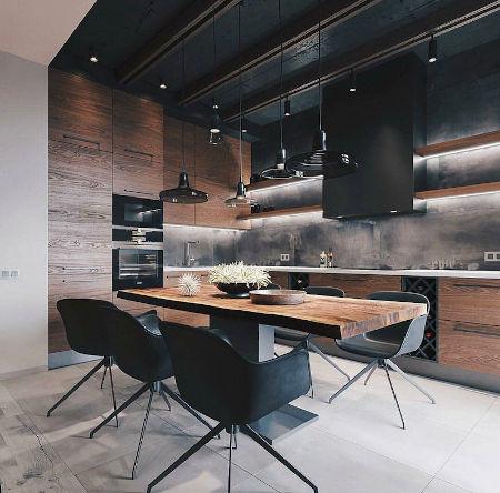 cocina iluminación hogar