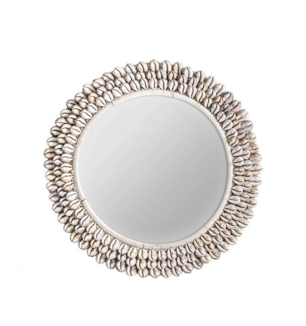 espejo caracoles forma girasol